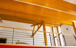 maison ossature bois, intérieur